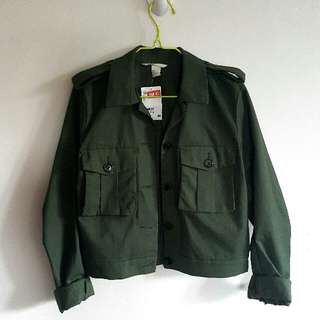 H&M Military Inspired Coach Jacket