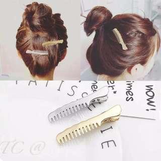 韓款造型梳子髮夾梳子(2入)