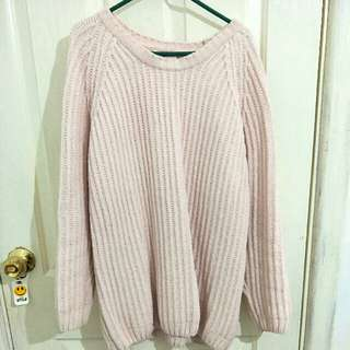 Pink Wooly Sweater
