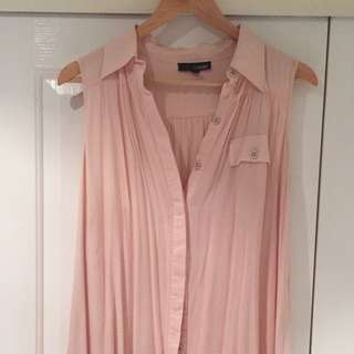 Ladakh peach shirt dress size 8