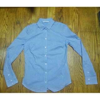 全新 NET 水藍細條紋 上班族襯衫  買到賺到
