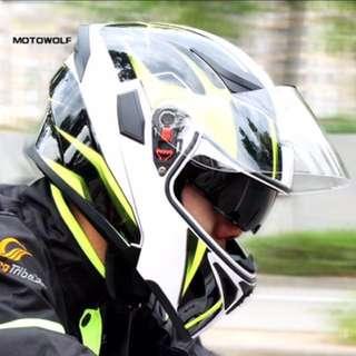 Motowolf Modular flip open helmet