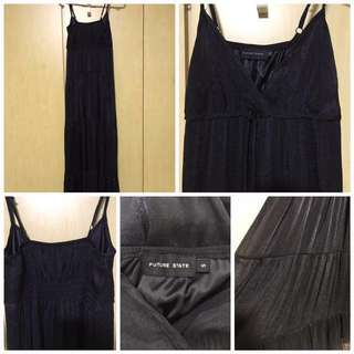 Dress: Long Flowy Maxi, Size S, Black (by FUTURE STATE)