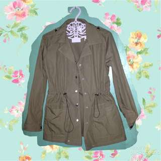Olive green cover up