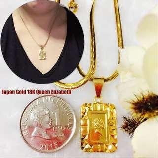 Authentic Bangkok Gold Japan Style 18K Queen Elizabeth Necklace
