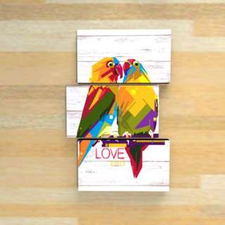 picbox vintage decor 1 set love bird design