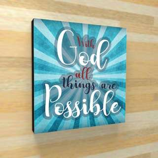 picbox vintage decor hiasan dinding minimalis GoD quote
