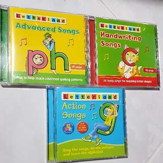 Letterland Phonics Songs CDs -- 3 CDs