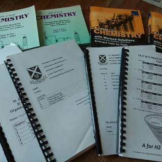 H2 Chemistry (2015 Syllabus) Lecture Notes, Tution Notes, Tutorials and Books