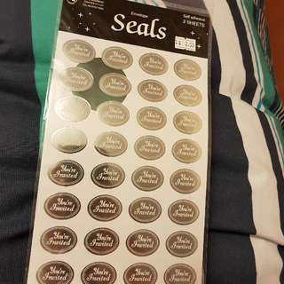 'Your Invited' Envelope Seals