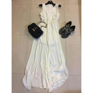 🚚 MANGO 造型雪紡洋裝