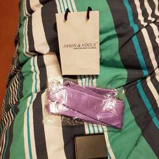 Purple Tie Cufflink Set