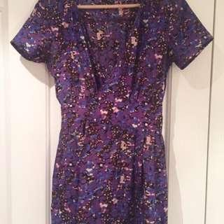 Ladakh purple print dress size 8