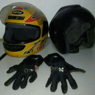 Helmet And Original Gloves