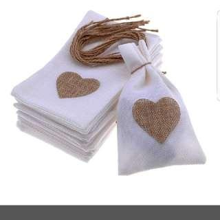 Favour Heart Bags X5