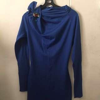 Must Go! Elegant Royal Blue Maxi Dress