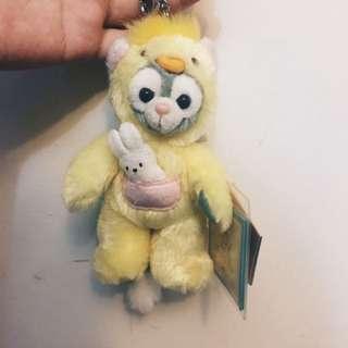 香港迪士尼 復活節限量 達菲朋友 畫家貓吊飾