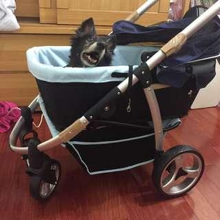 【IBIYAYA依比呀呀】頭等艙中小型寵物推車-藍(FS1202)95%新 原價8600