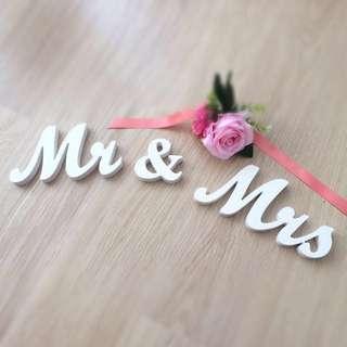 Mr & Mrs 結婚 婚禮裝置 婚照 拍攝道具