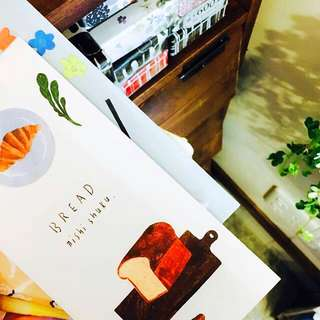 日本選物:: 麵包美濃和紙高磅數便箋 4枚花色