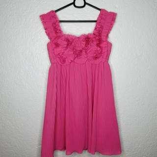 Pink Vania Romoff Short Dress