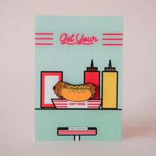 Hot Dog Soft Enamel Pin