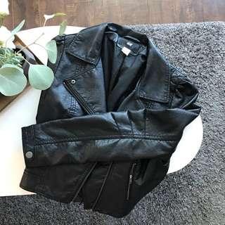 H&M Black Faux Leather Jacket