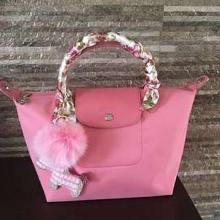mini longchamp with accessories