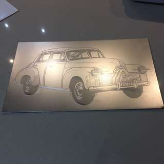 Car aluminium metal plate