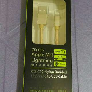 peripower Apple MFI Lightning 鋁合金傳輸線