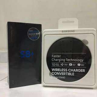 [BNIB] Samsung S8+ Midnight Black & Wireless Charger Convertible