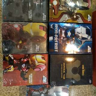 IRONMAN EGG ATTACK (50SGD Each)     1) WAR MACHINE (Sold)  2) MK IV (Sold)   3) MK V (Sold)   4) MK VI (Sold)  5) MK XLII           6) IRON PATRIOT (Sold)      7) MK 42 SECRET PROJECT NIGHT COMBAT EDITION (Sold)