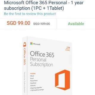 Office 365 Personal Subscription - New Unsealed