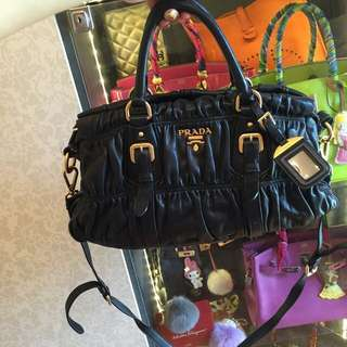 Authentic Prada Leather Napa Gaufre Bag