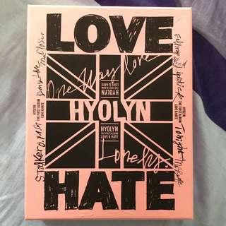 Sistar孝琳 Love&Hate 專輯
