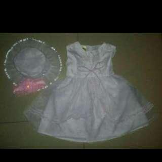 Baptismal Baby White Dress