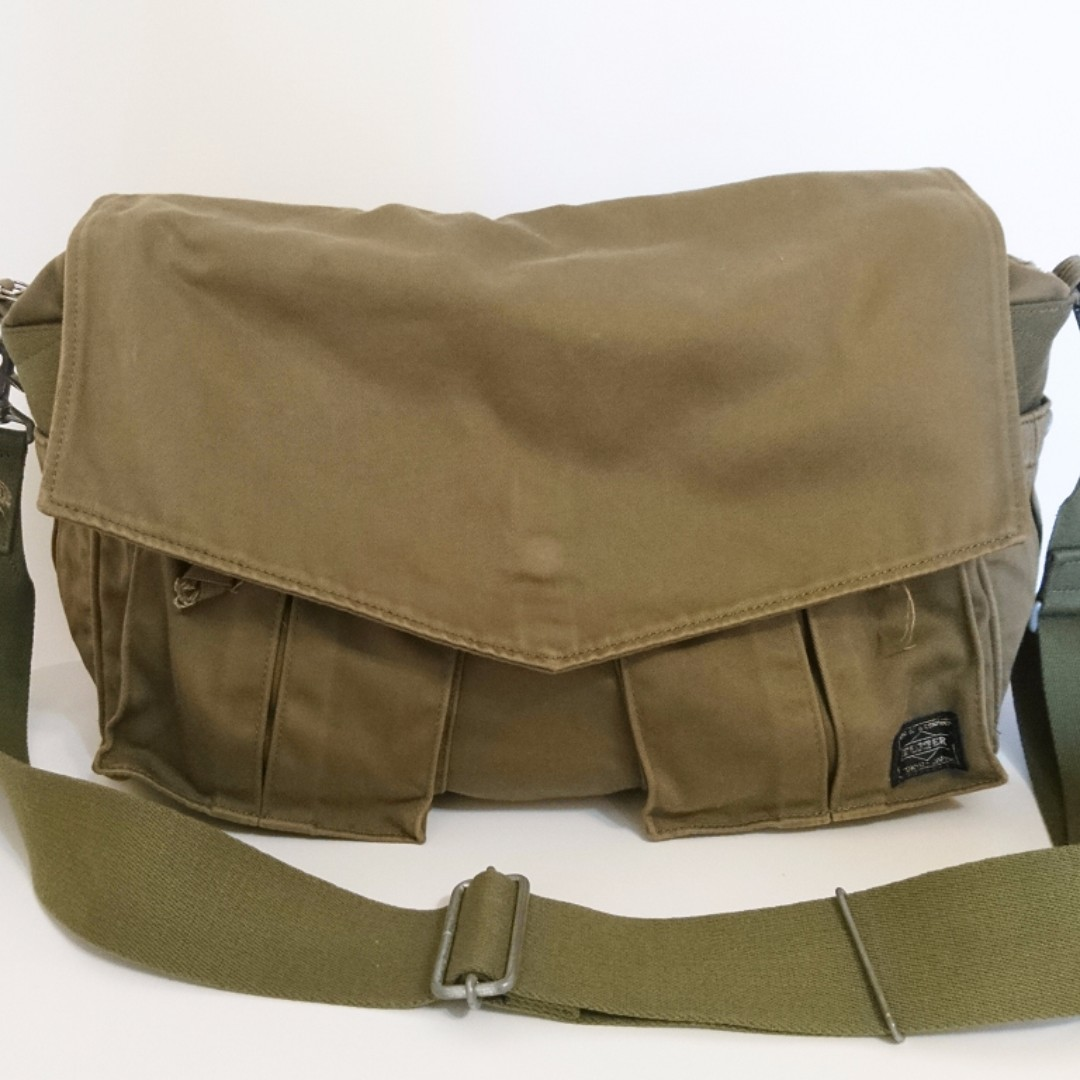 [售] 日標 PORTER PEACE SHOULDER BAG 軍綠色 側背包 限量款 番號705-07691
