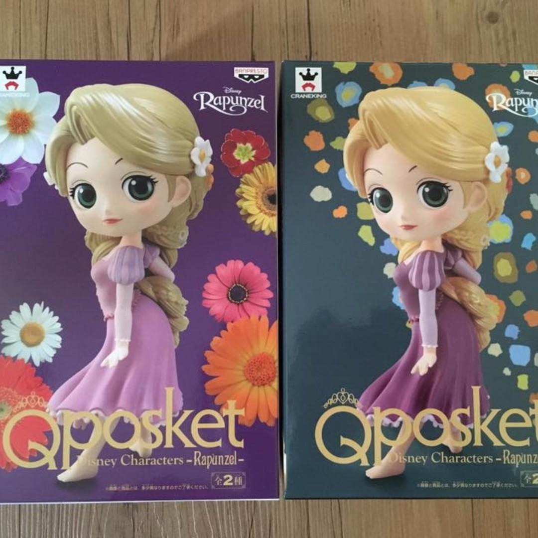日版 QPOSKET 景品 迪士尼 魔髮奇緣 長髮公主 樂佩 Rapunzel 雙色合售