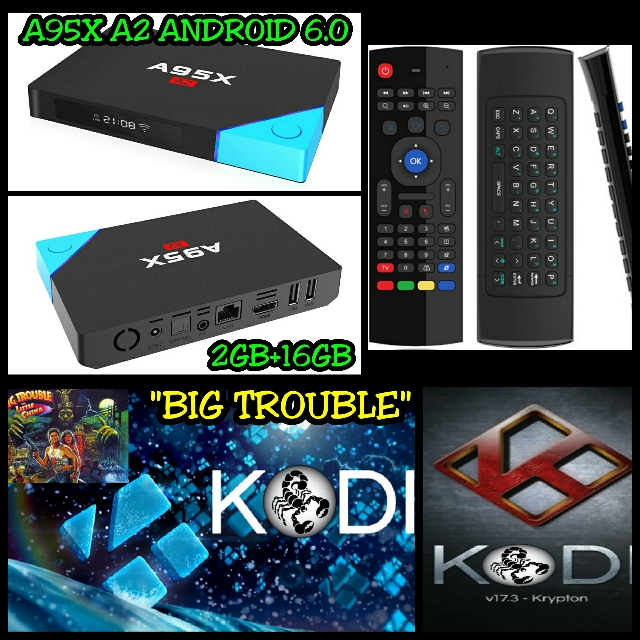 A95X A2 ANDROID 6 0 TV BOX 2GB+16GB KODI 17 4 &WIRELESS AIR MOUSE REMOTE  (S912)