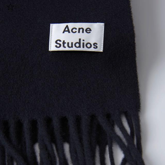 Acne studios Canada wool scarf 圍巾 黑(Mytheresa購入,付收據)