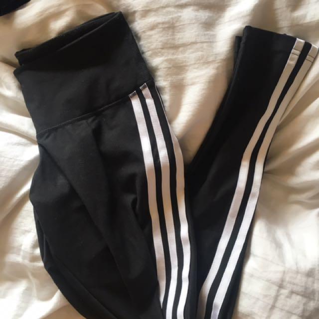 adidas leggings pants sport gym size 6-8 climalite