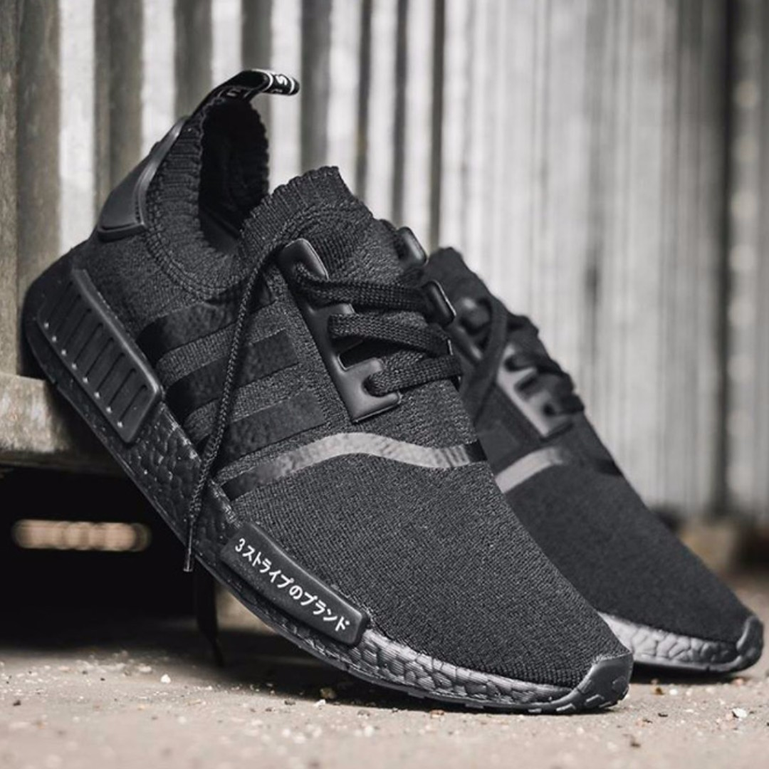 4395724004b11 adidas NMD R1 Primeknit Japan Triple Black on Carousell