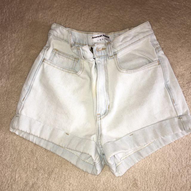 American Apparel Light Wash Shorts