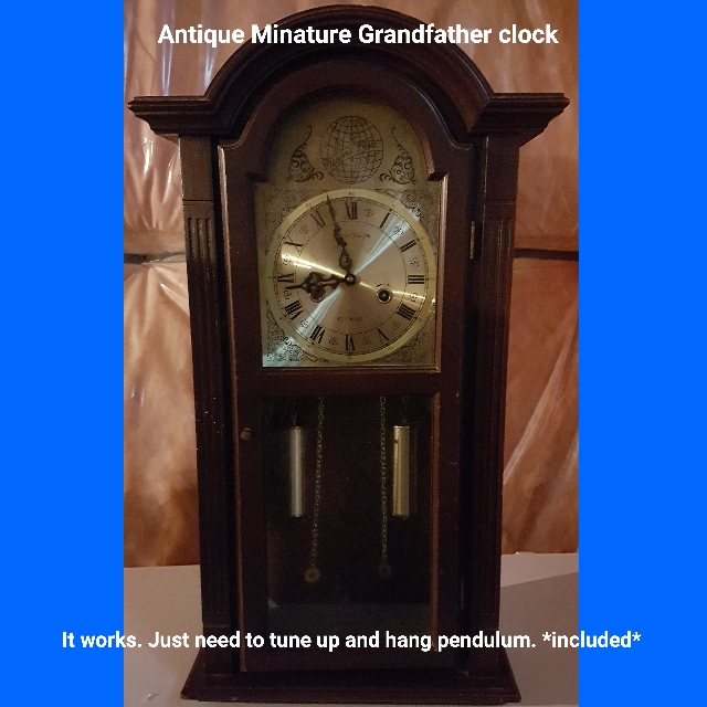 antique Minature Grandfather clock