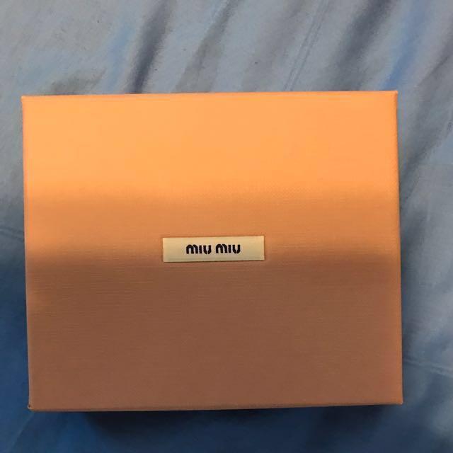 17ea92853a71 Authentic Miu Miu Box With Paper