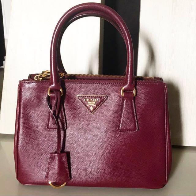 Authentic Prada Saffiano handbag