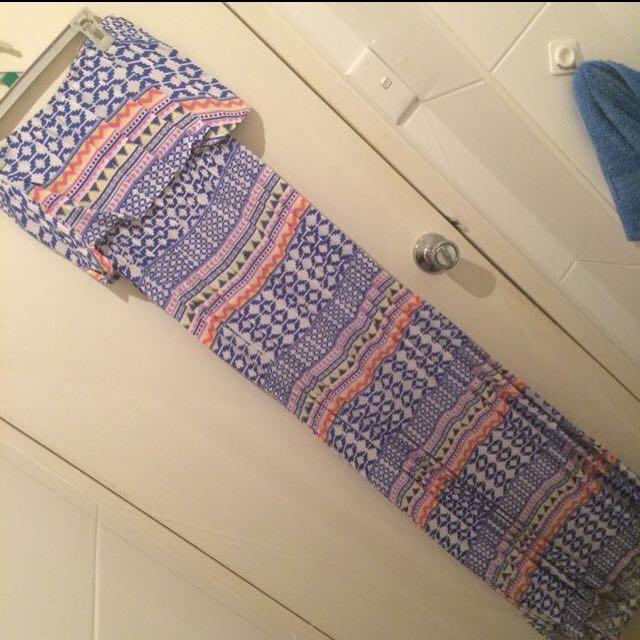 Aztec Style Maxi Dress