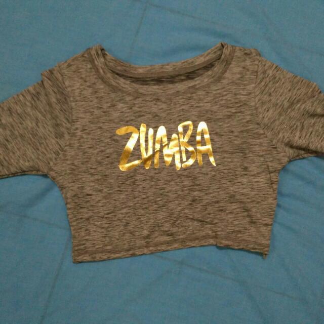 Baju zumba warna abu abu