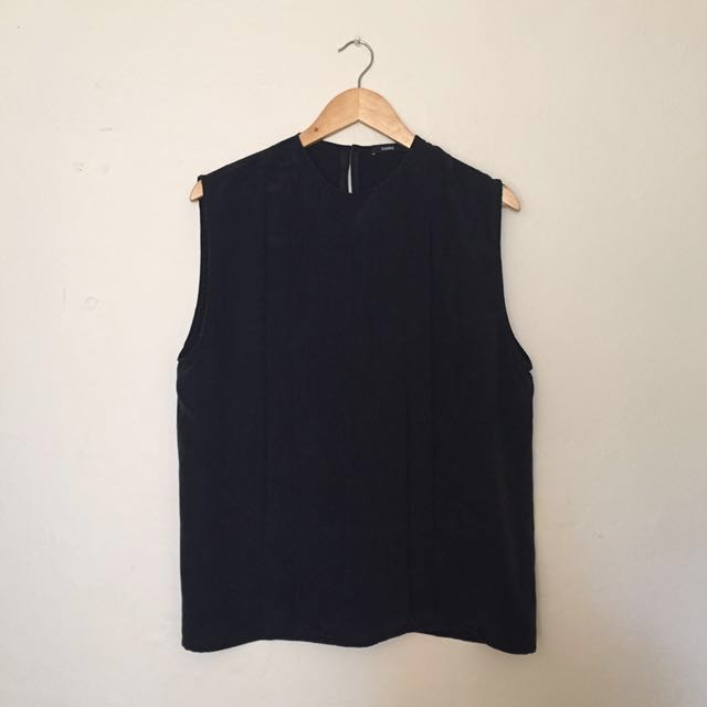 Bassike - Black Silk Top