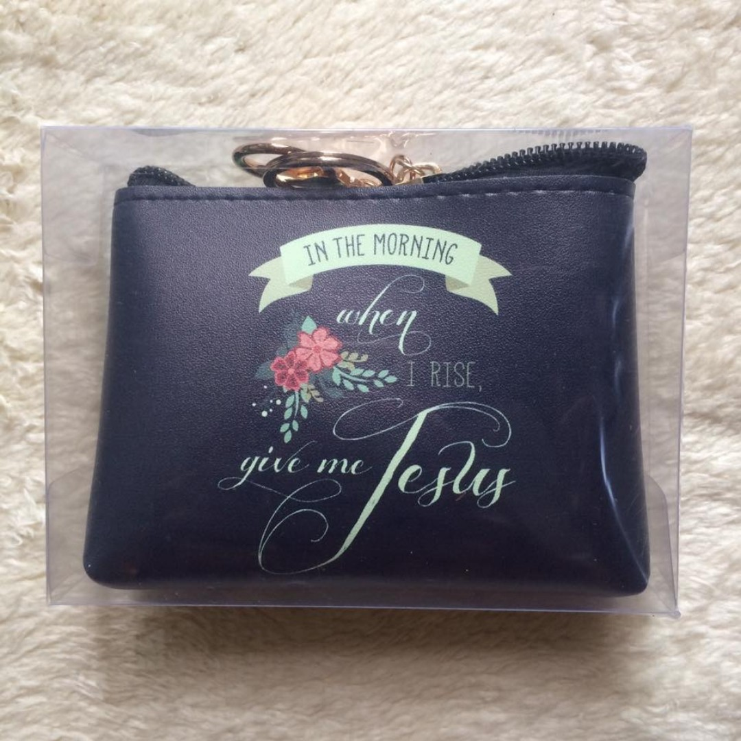 Bible Verse Coin Purse (Give Me Jesus)